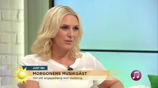Sanna Nielsen om den tuffa tiden som mobbad tonåring - Nyhetsmorgon (TV4)