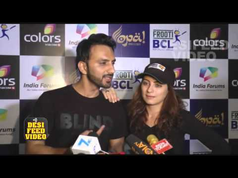 Ali Merchant & Lavina Tandon Interview at the Red Carpet of BCL party