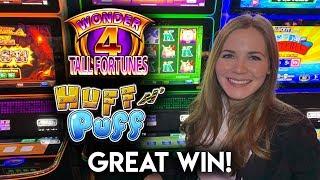 Great Run of Bonuses! Lock-It Link Huff N' Puff Slot Machine!