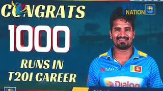 Kusal Perera scores 1000 runs in T20I Cricket