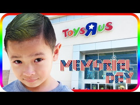 Thumbnail: Birthday Toy Hunt at Toys R Us, Happy Memorial Day Fidget Spinner - TigerBox HD