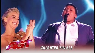 Luke Islam: Julianne's Golden Buzzer SLAYS At Live show | America's Got Talent 2019