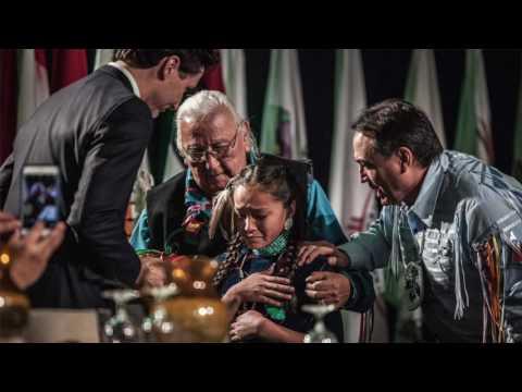 Autumn Peltier's gift for Trudeau
