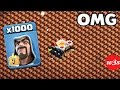 1000 Wizard VS 1000 Skeleton Trap Amyzing Attack GamePlay On COC Private Server