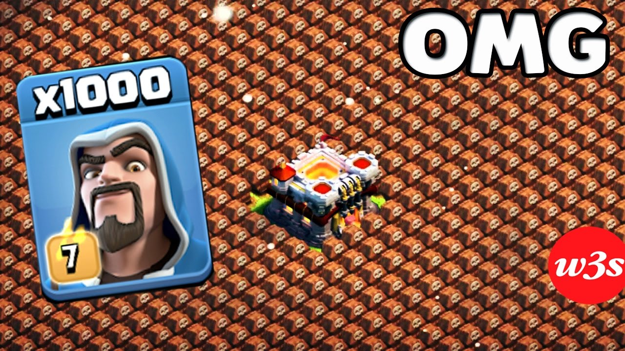 Download 1000 Wizard VS 1000 Skeleton Trap Amyzing Attack GamePlay On Clash of clans Private Server