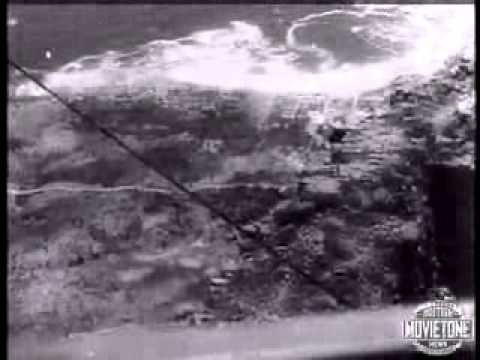 Archive footage of Table Mountain's cable car