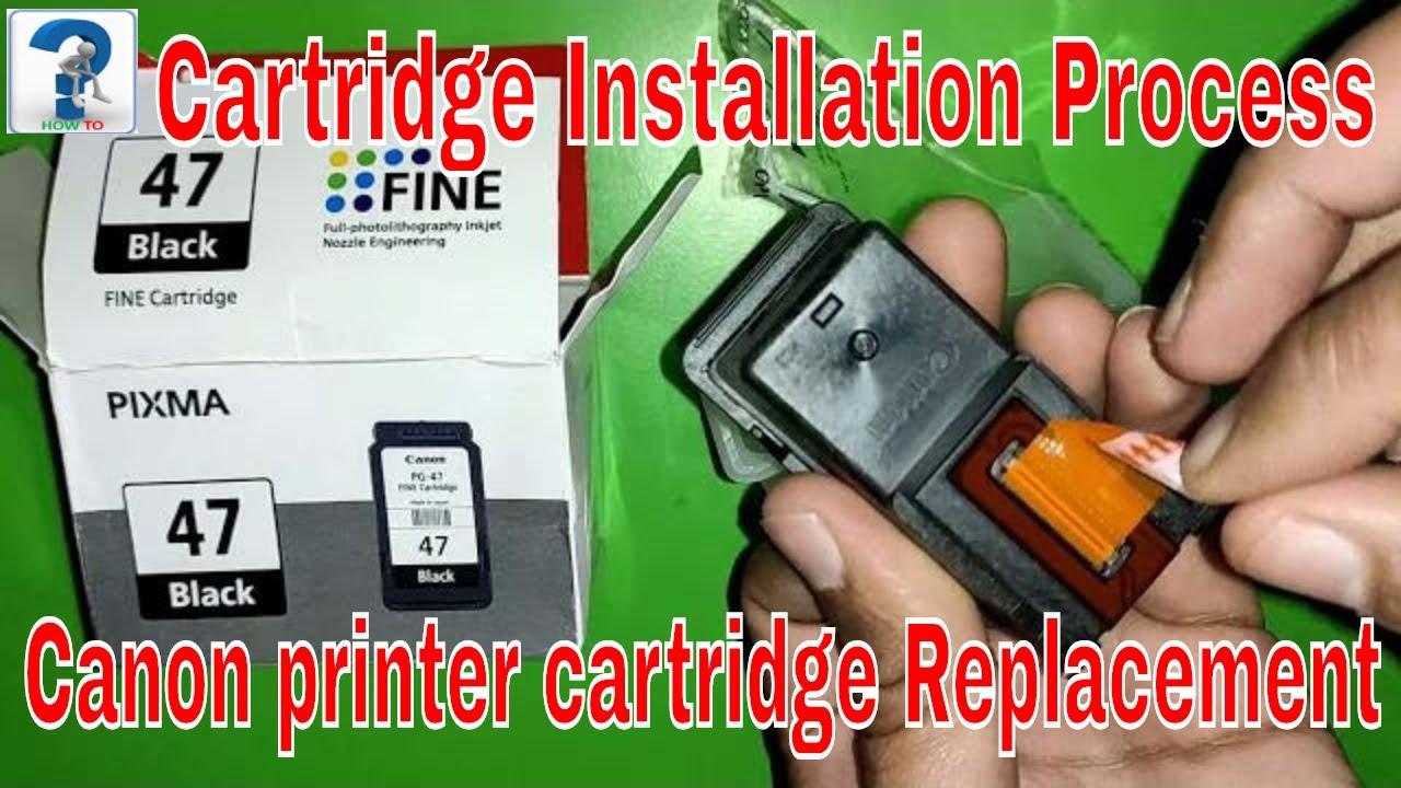 canon pixma E417 printer cartridge replacement/change/new cartridge installation,PG-47, E410/E470