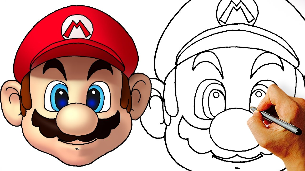 How To Draw Mario Head Super Mario Characters Youtube