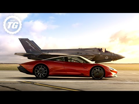 FULL FILM: McLaren Speedtail vs F35 Fighter Jet | Top Gear
