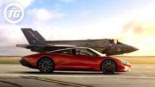 Download FULL FILM: McLaren Speedtail vs F35 Fighter Jet | Top Gear