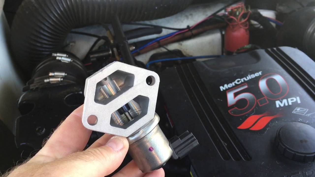 Mercruiser 5.0 MPI IAC valve replacement - YouTube