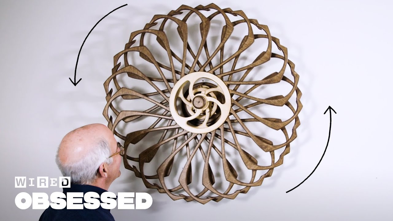 How This Guy Builds Mesmerizing Kinetic Sculptures | Obsessed