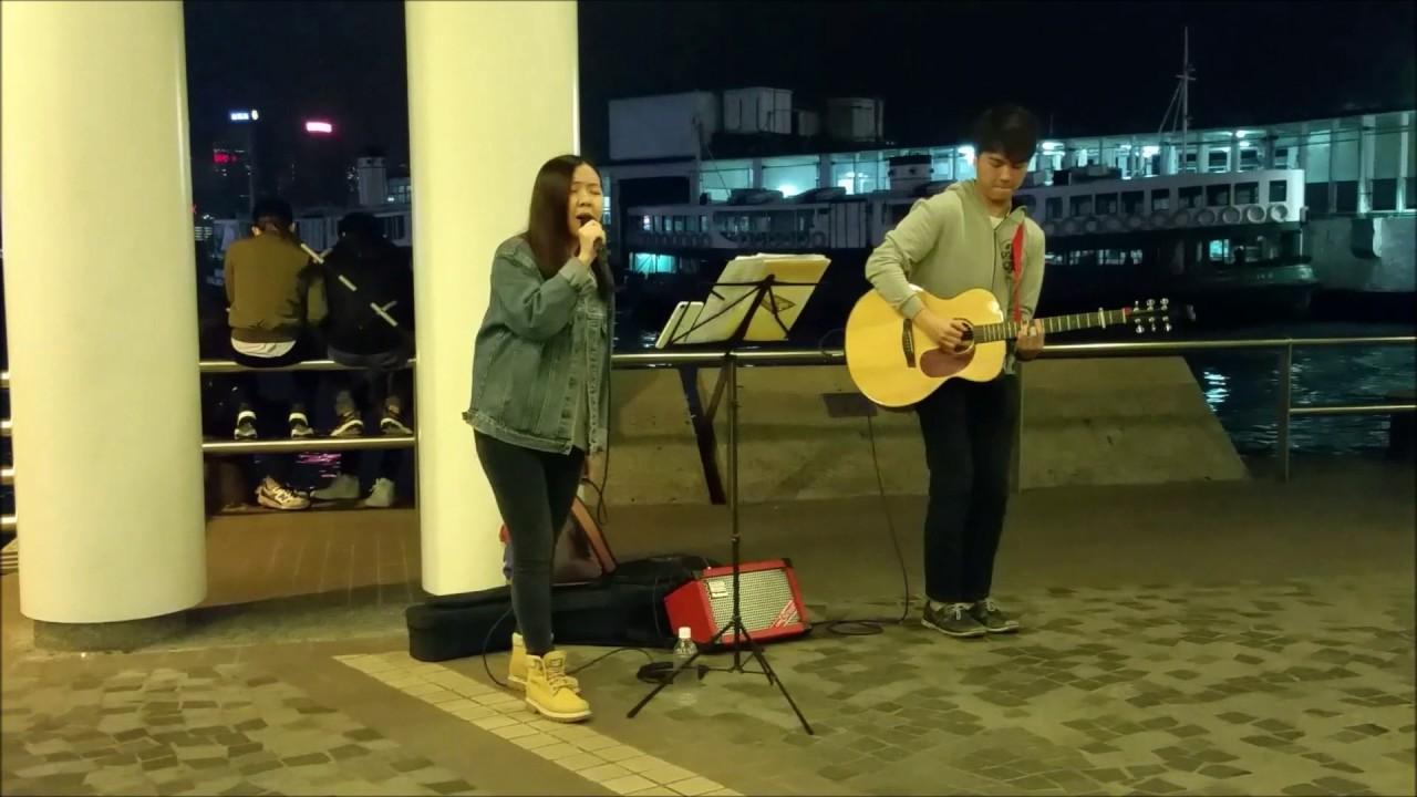 在尖沙咀文化中心Busking獻唱片段節錄重溫! - YouTube