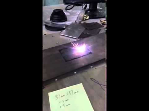 50w fiber laser engraving on titanium alloy