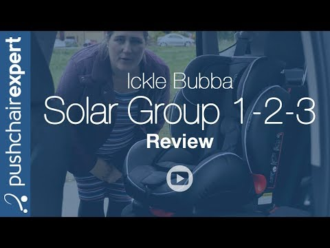 Up Close Ickle Bubba Solar Group 1 2 3 Isofix and Recline Car Seat