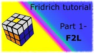 fridrich method tutorial   part one   f2l