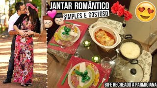 JANTAR ROMÂNTICO SIMPLES E BARATO (BIFE RECHEADO Á PARMEGIANA) ♥ - Bruna Paula