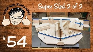 Snw54- Homemade Table Saw Crosscut Sled With Box.finger Joint, Spline And Tenon Jigs Part 2 Of 2