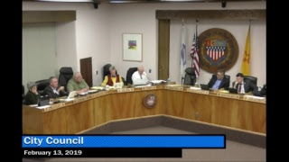 City Council Meeting for February 13, 2019