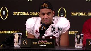 Tua Tagovailoa on game-winning TD in national championship