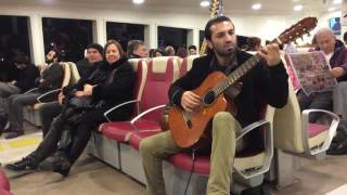 guitar man on the ship, Leyenda Asturias on the Ship