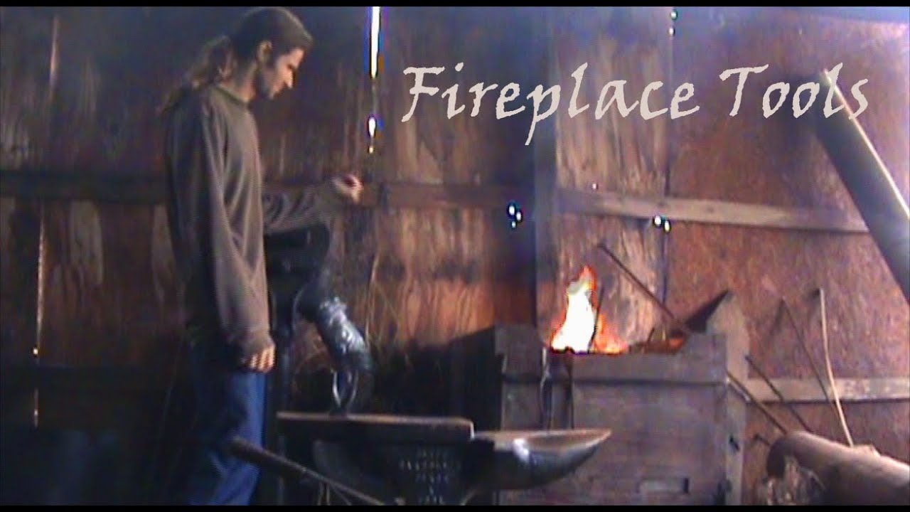 blachsmith forged fireplace tools youtube