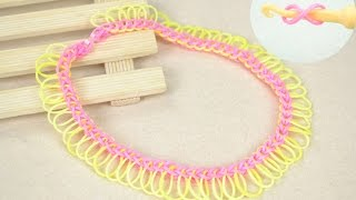 Rubber Band Jewelry - Make Fringe Rubber Band Necklace with Hook
