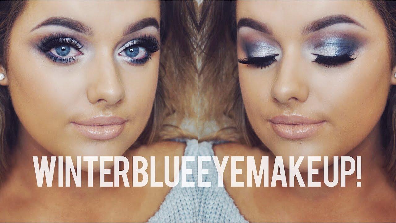 Icy Blue Eye Make Up Tutorial Rachel Leary Youtube