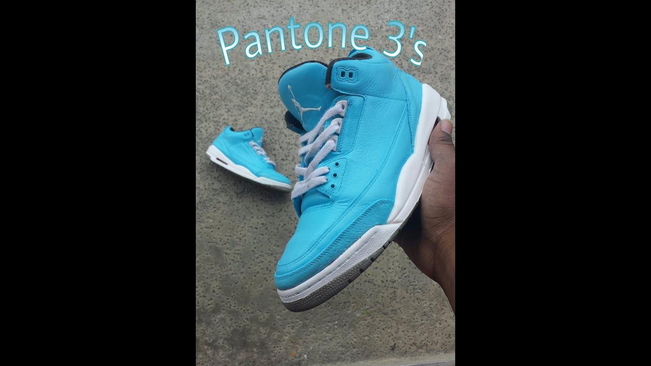 Custom Closet  Air Jordan III (3) Pantone +On Feet - YouTube 2d971e727