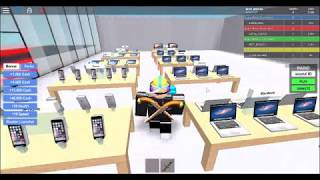 Playing Roblox Apple Store Tycoon ; D