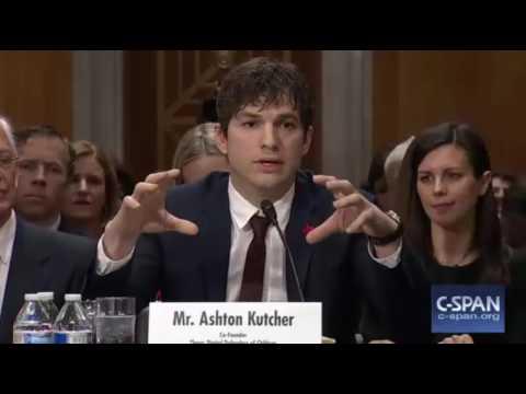 Ashton Kutcher Testifies on Trafficking In Senate Foreign ...