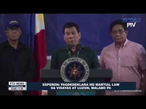 Esperon: Pagdedeklara ng Martial Law sa Visayas at Luzon, malabo pa