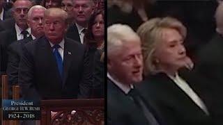Quand Donald Trump et Hillary Clinton se croisent, c'est glacial