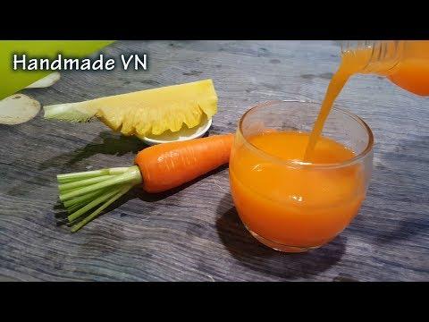 Cách làm nước ép dứa cà rốt đẹp da giữ dáng
