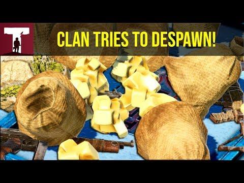 CLAN TRIES TO DESPAWN ON WIPE DAY! (Rust Raid) thumbnail
