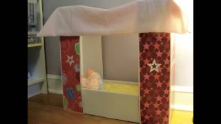 How To Make A Canopy Bed For Your American Girl Doll