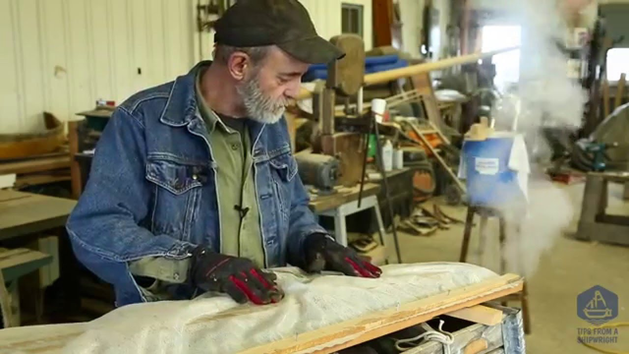 How to steam bend wooden boat frames - YouTube