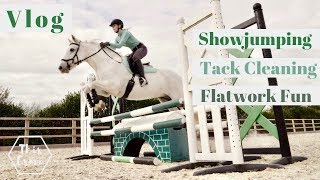 pony-vlog-showjumping-tack-cleaning-and-flatwork-fun-this-esme