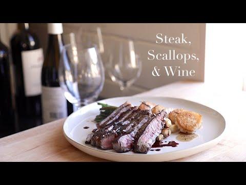 Steak, Scallops, & Wine (Aervana)