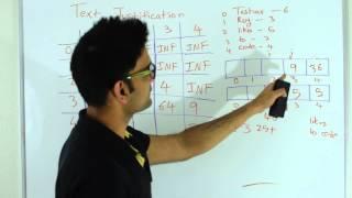 Text Justification Dynamic Programming