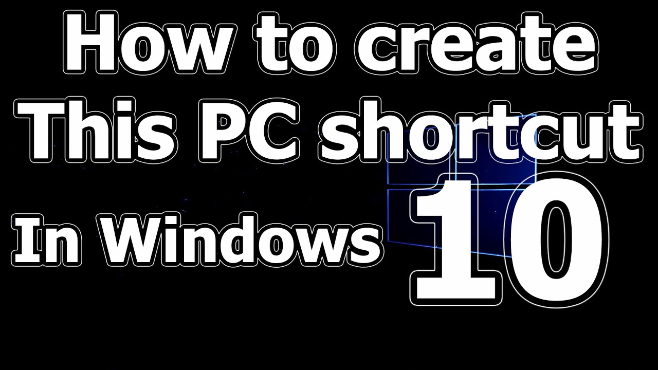 create my computer  this pc in windows 10 shortcut on