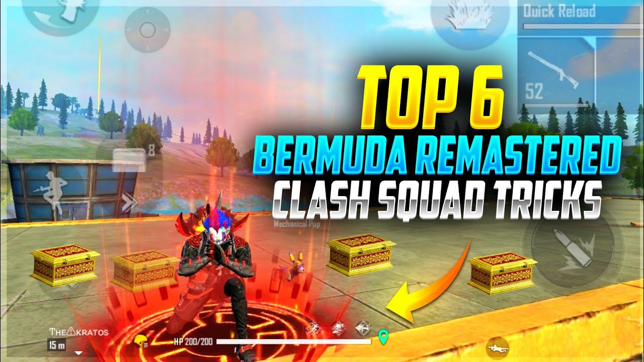 Top 6 Clash Squad Bermuda Remastered Tricks || CS Ranked || Free Fire Tricks Tamil