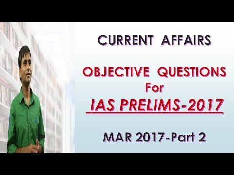 Current Affairs-Objective Questions-MARCH 2017-PART2
