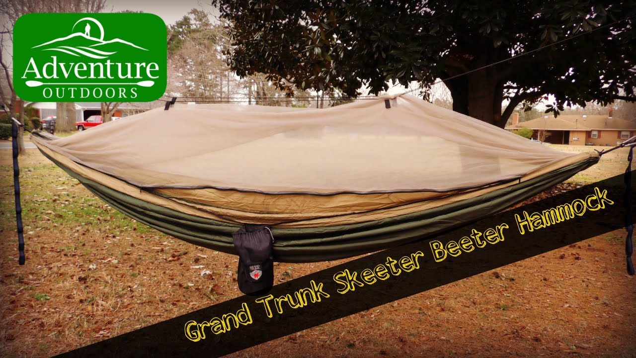 Camping Gear ~ Grand Trunk Skeeter Beeter Pro Hammock Review ~ Built In  Mosquito Net   YouTube