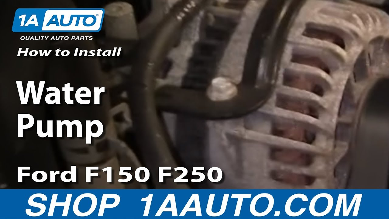 how to replace water pump 97 04 5 4l v8 ford f150 250 [ 1280 x 720 Pixel ]