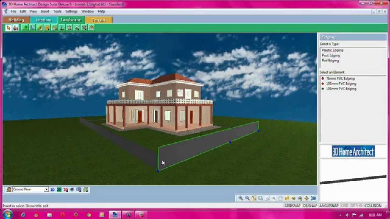 3d home architect design suite deluxe 8 youtube for 3d home architect