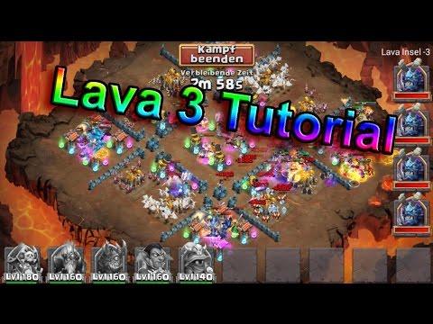 Castle Clash - Lava 3 Tutorial