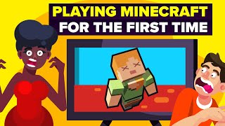PLAYING Minecraft for the FIRST TIME - Funny Video Game Challenge