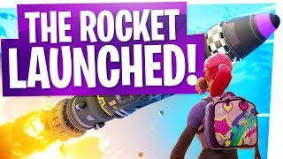 THE SECRET LAIR ROCKET LAUNCHED & OPENED ANOTHER DIMENSION? - Fortnite Launch & Live Reactions!