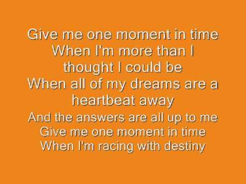 Cherish - Moment In Time Lyrics | MetroLyrics